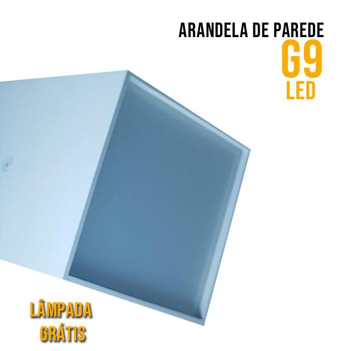 ARANDELA DE PAREDE BRANCA G9 LED - Lâmpada Brinde
