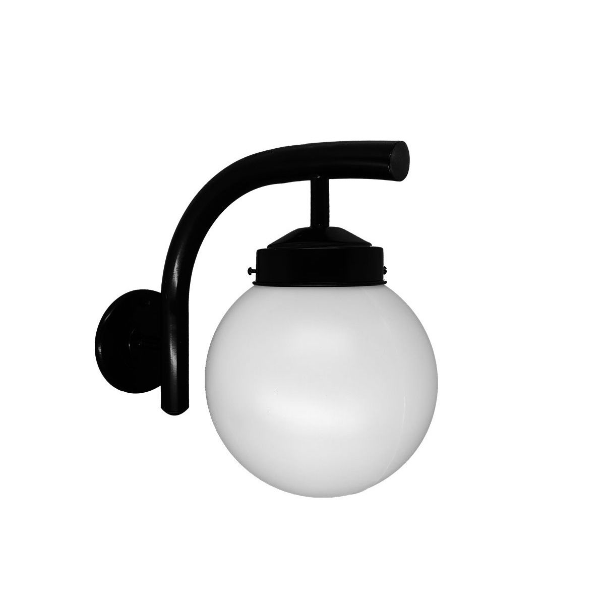 Arandela em Alumínio com Globo - Luminária Decorativa