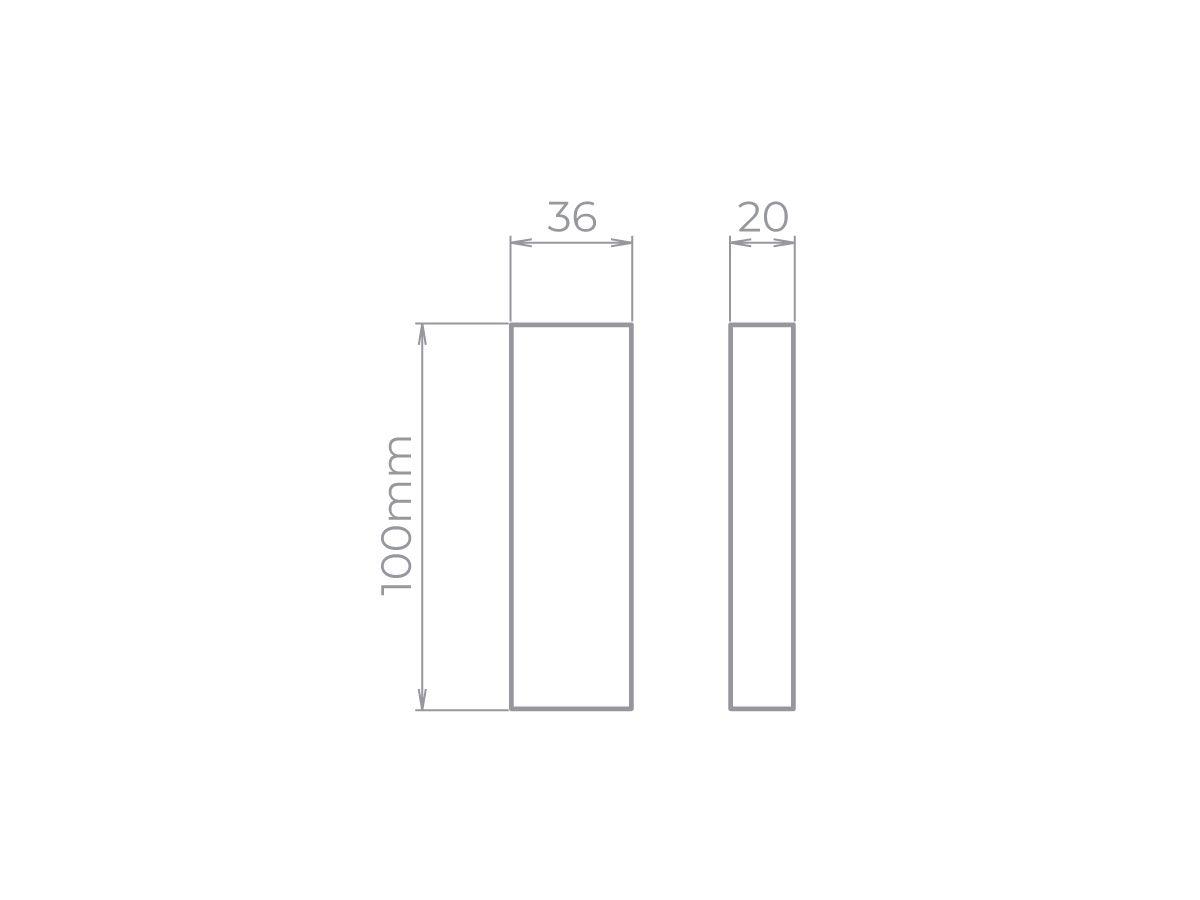 Arandela Wall Mini LED 5W 3000k 20lm IP65 BIVOLT - Stella STH9732
