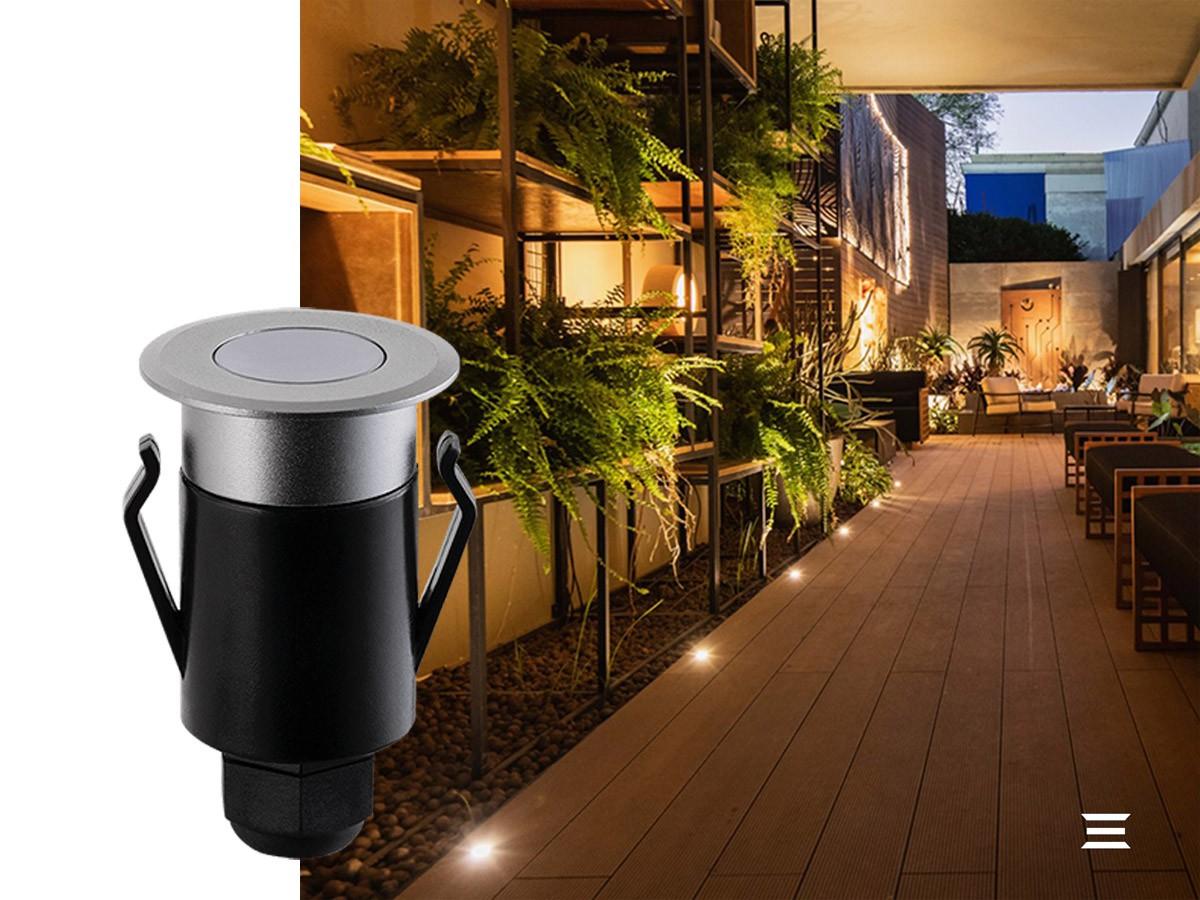 Balizador de Solo SPUR LED 1W 3000K IP67 100º 20lm - Stella STH6710/30