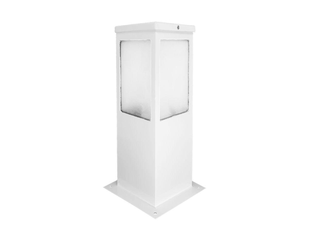 Balizador Poste Alumínio Branco 30cm  Jardim Área Externa E27 - Bivolt