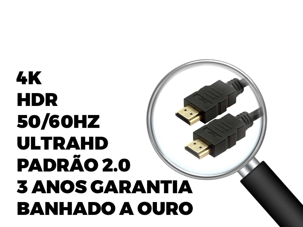 Cabo Hdmi 2.0 4k 3d Ultrahd 19 Pinos Chip 10M 018-2230