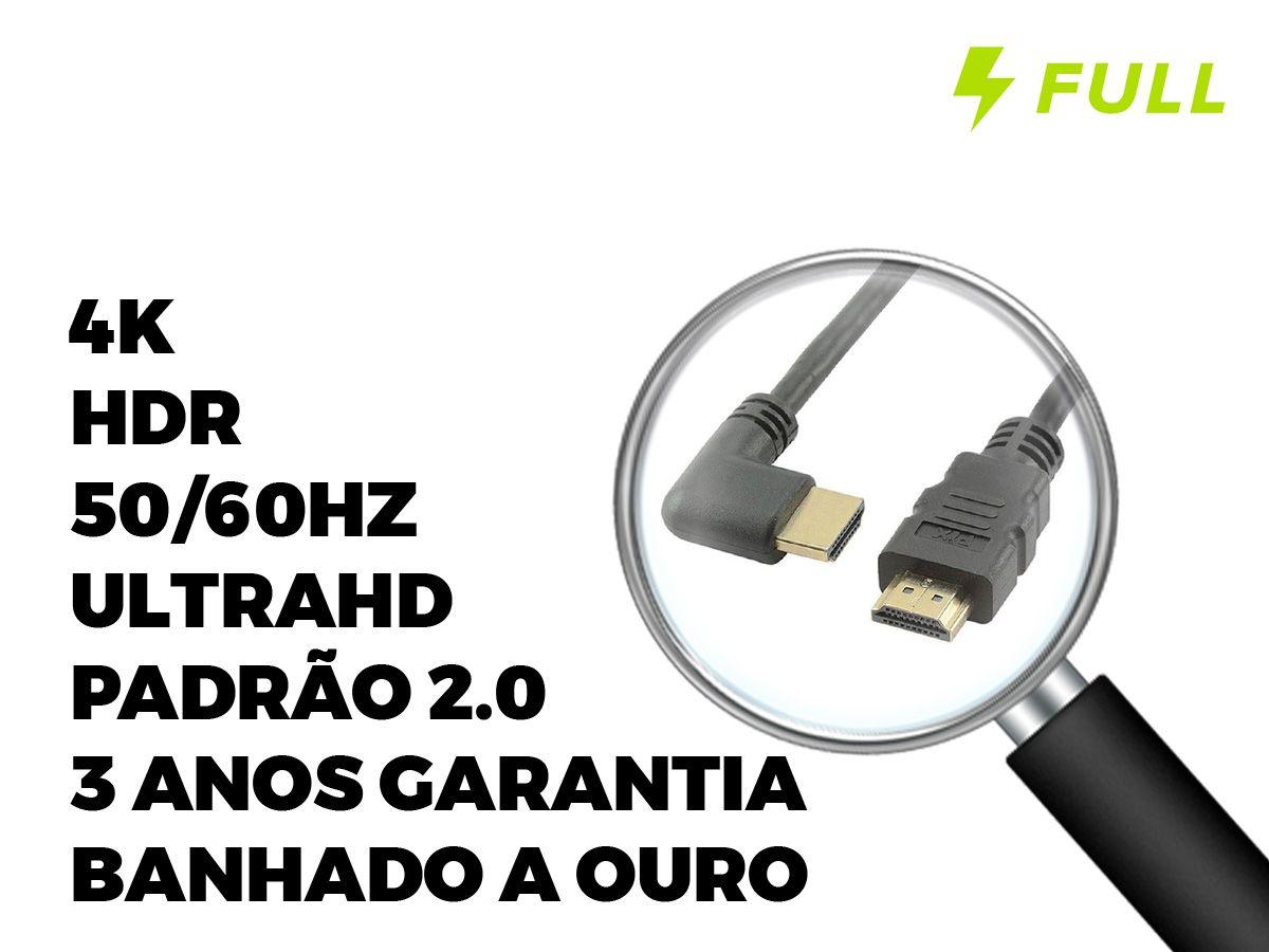 Cabo Hdmi 2.0 90º 2 Metros 2.0 4k Ultra Hd 3d 018-3322