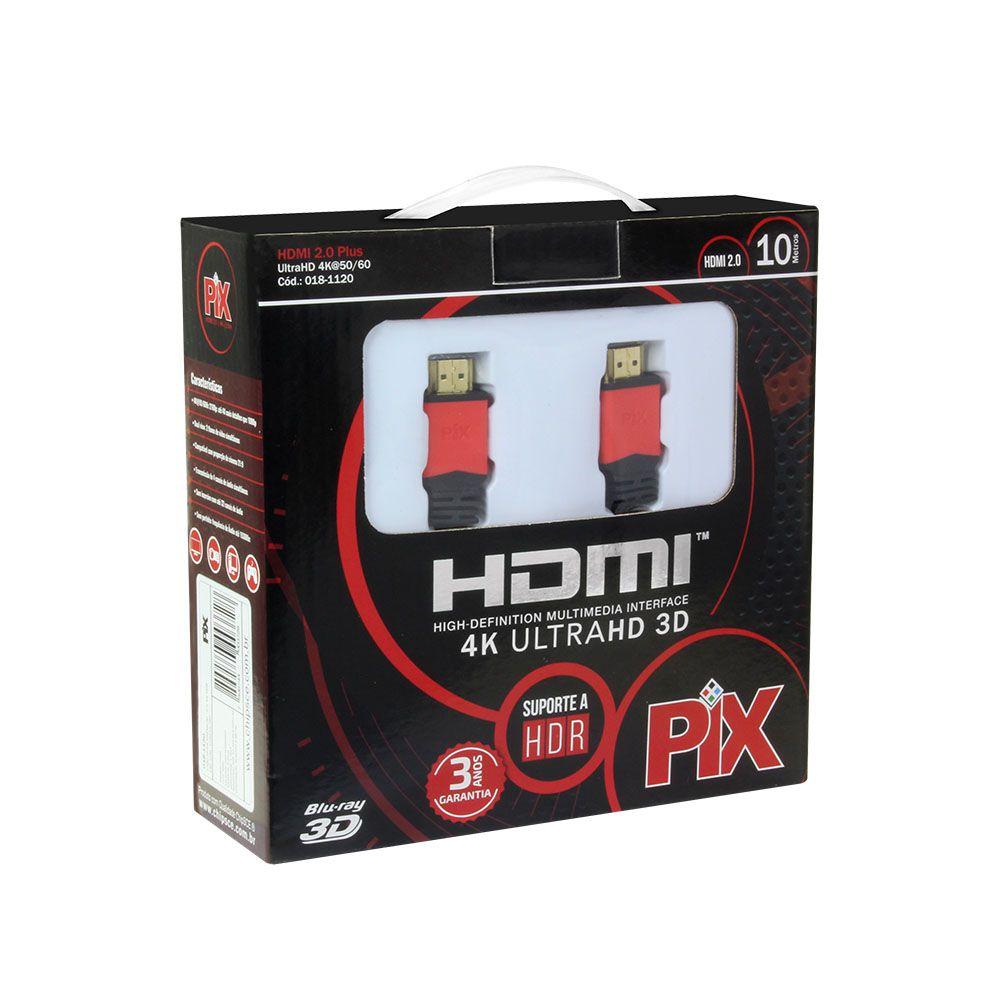 Cabo HDMI Premium 2.0 4K HDR 19P 10 Metros Com Filtro  018-1120