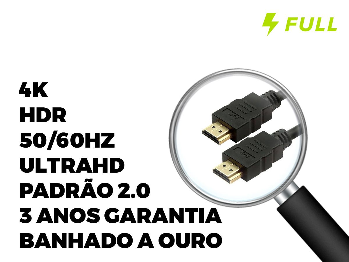 Cabo Hdmi Gold 2.0 4k Hdr 19p 5m-chip Sce 018-2225 FULL