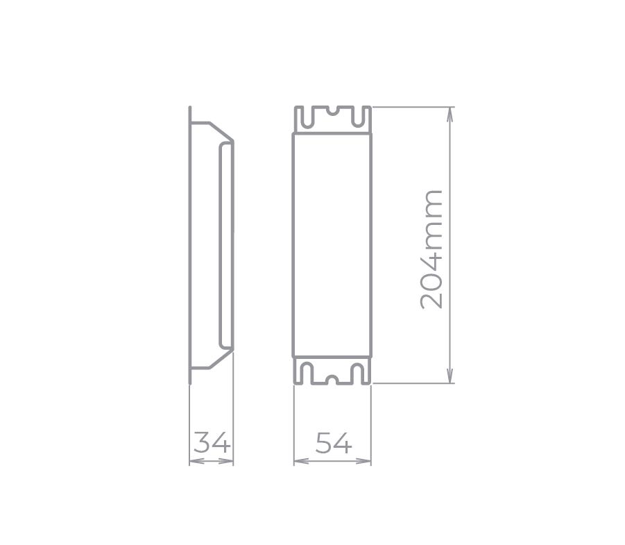Fonte Profissional para LED 12V 75W  IP20 127V Stella -  Dimerizável -STH4871