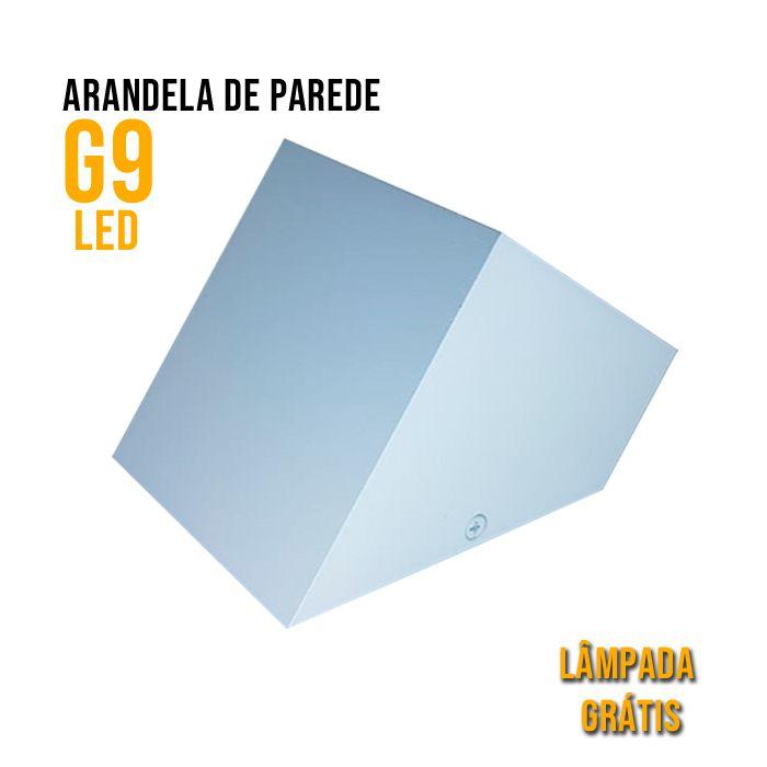 eluz 6157 2x10W 3000K LED Arandela Sobrepor Branco