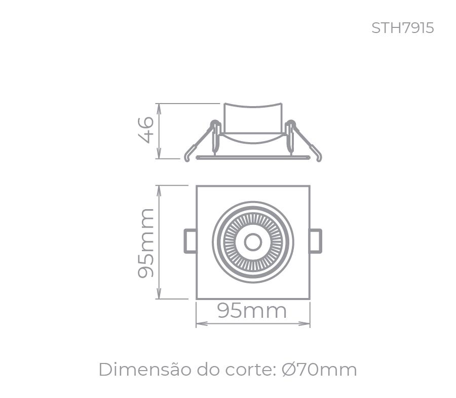 Embutido Led Easy MR16 4,5W Branco Neutro Direcionável 300lm Stella Sth7915/40