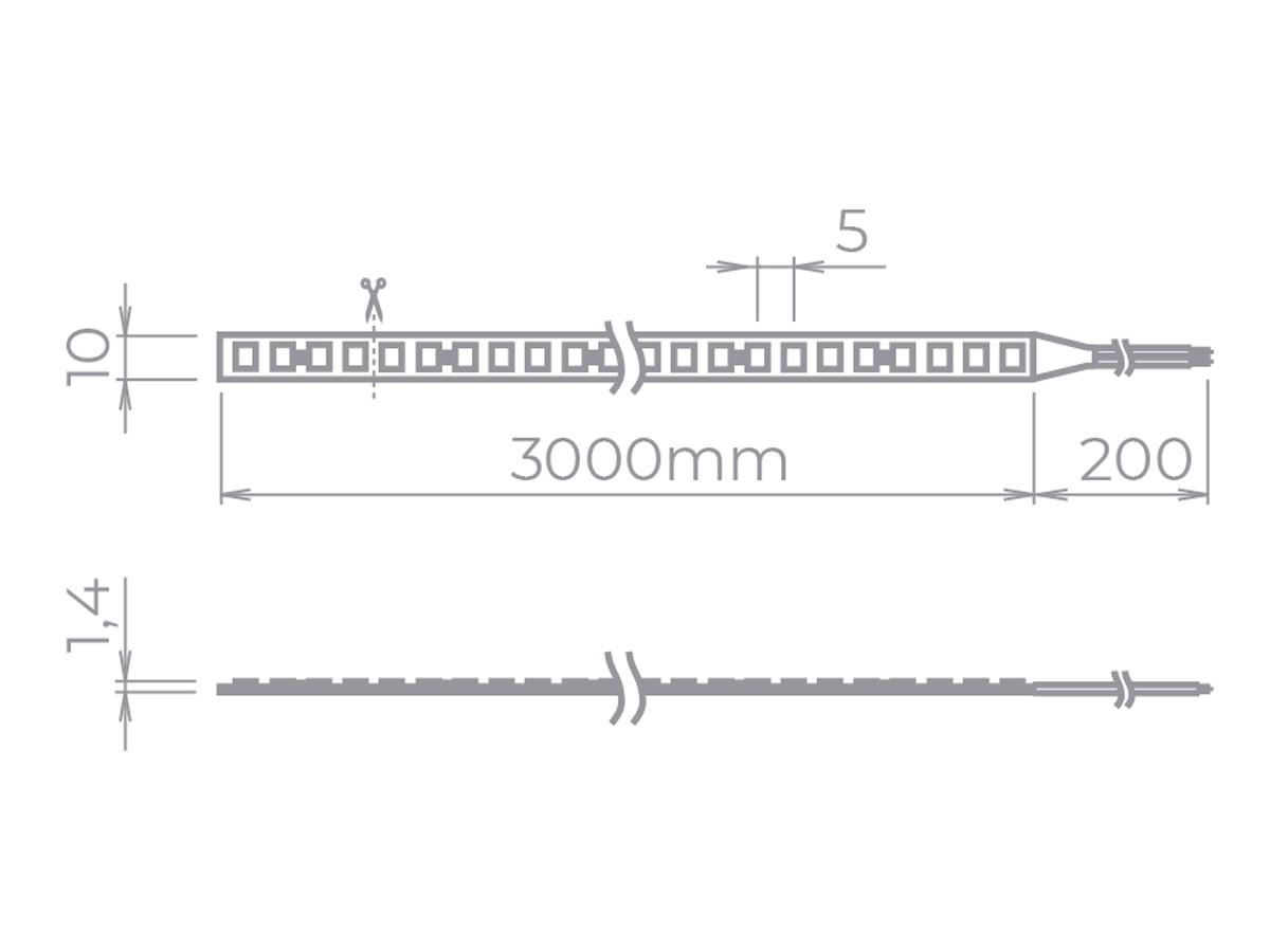 Fita Evo Full LED Profissional 19W/m 2700K IP20 24V 2.600lm-3m -Stella-STH8835/27
