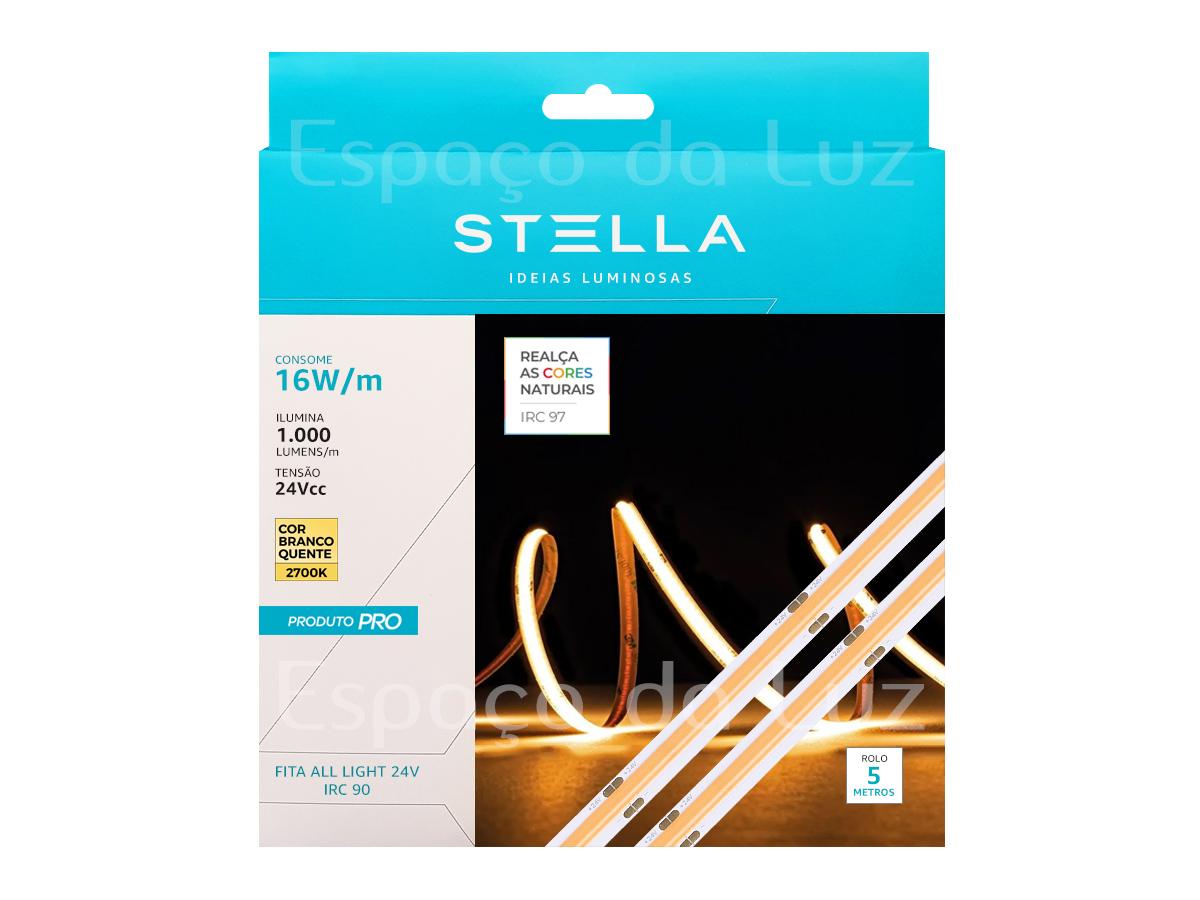 Fita Led Profissional All Light 16w 2700k+ Fonte 100w Stella