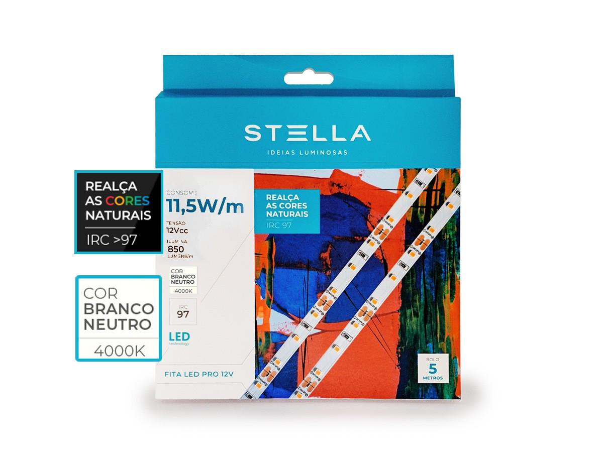Fita LED Profissional IRC97 11,5W/m  IP20 850lm 12V 5m - Stella - STH20810