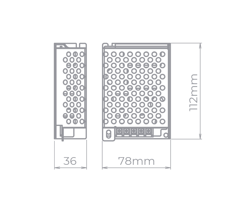 Fonte Profissional para LED 12V 60W IP 20 Stella - STH9893