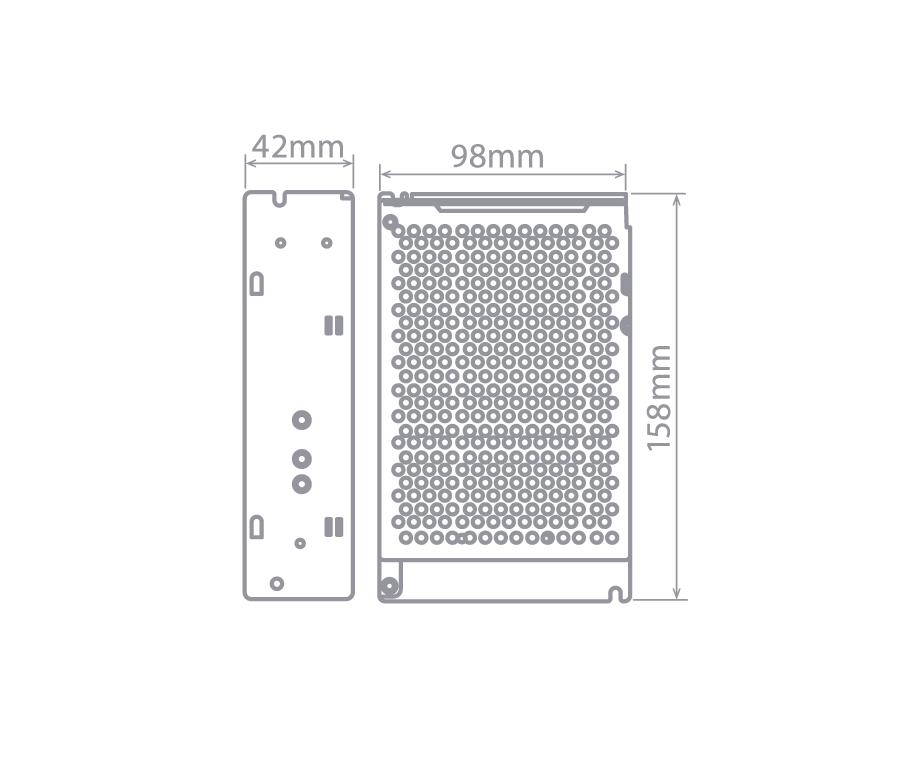 Fonte Profissional para LED 24V 100W IP 20 1 Ano Garantia