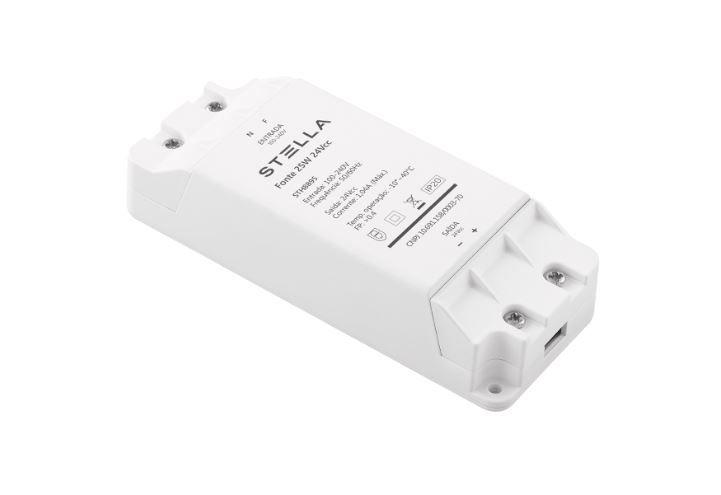 Fonte Profissional para LED 24V 25W IP 20 Stella -STH8895