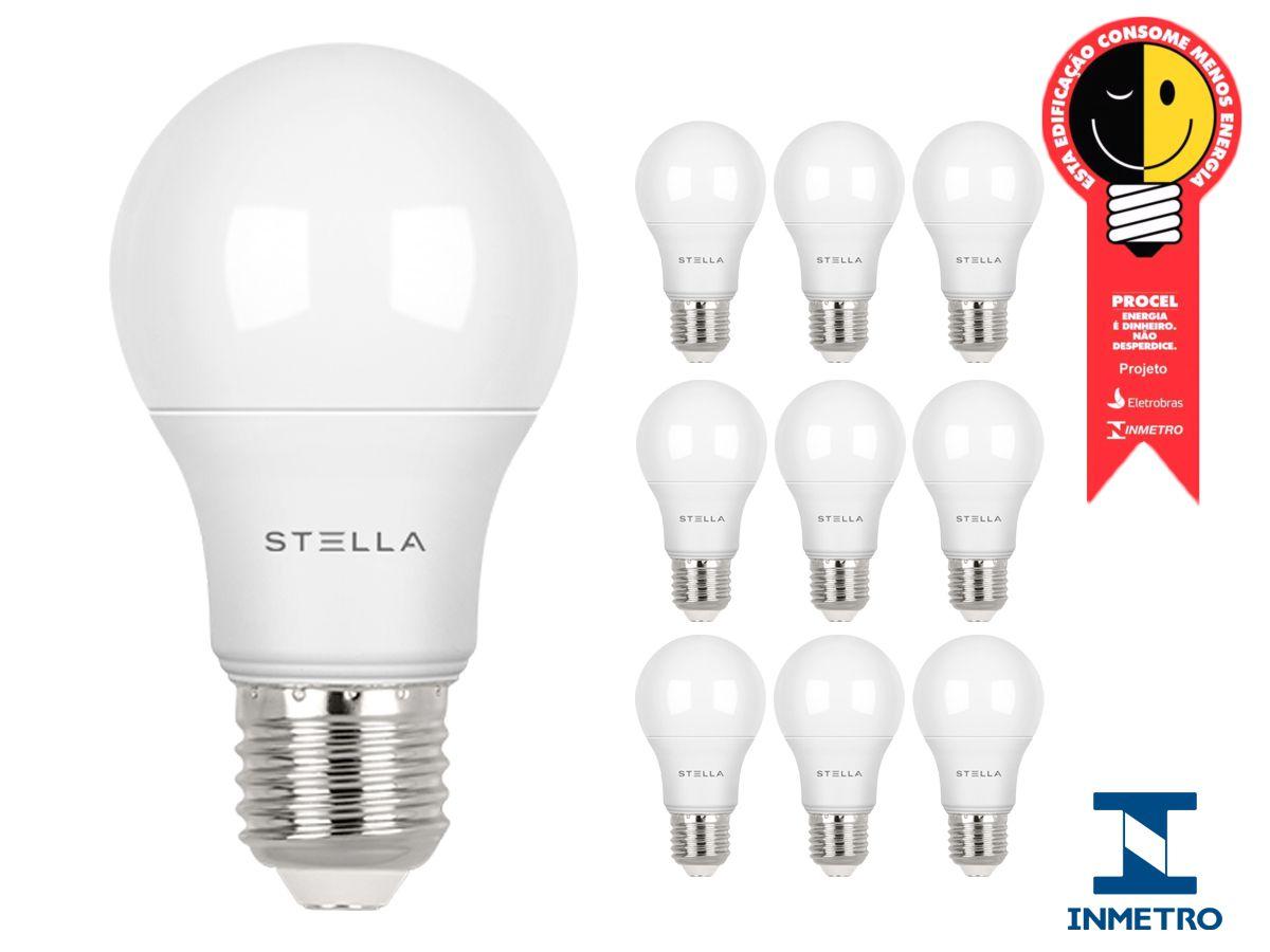 Kit 10 Lampada Led 9w E27 4000k Luz Neutra Stella Sth8235/40