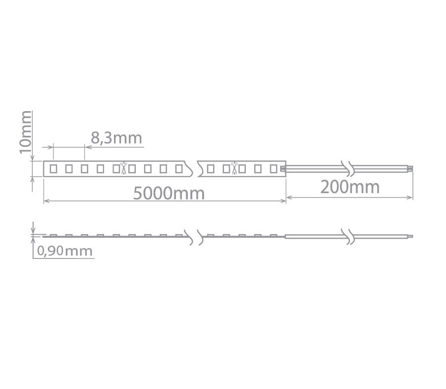 Kit 13x Fita Led Profissional 16w/m 2700K Branco Quente Stella