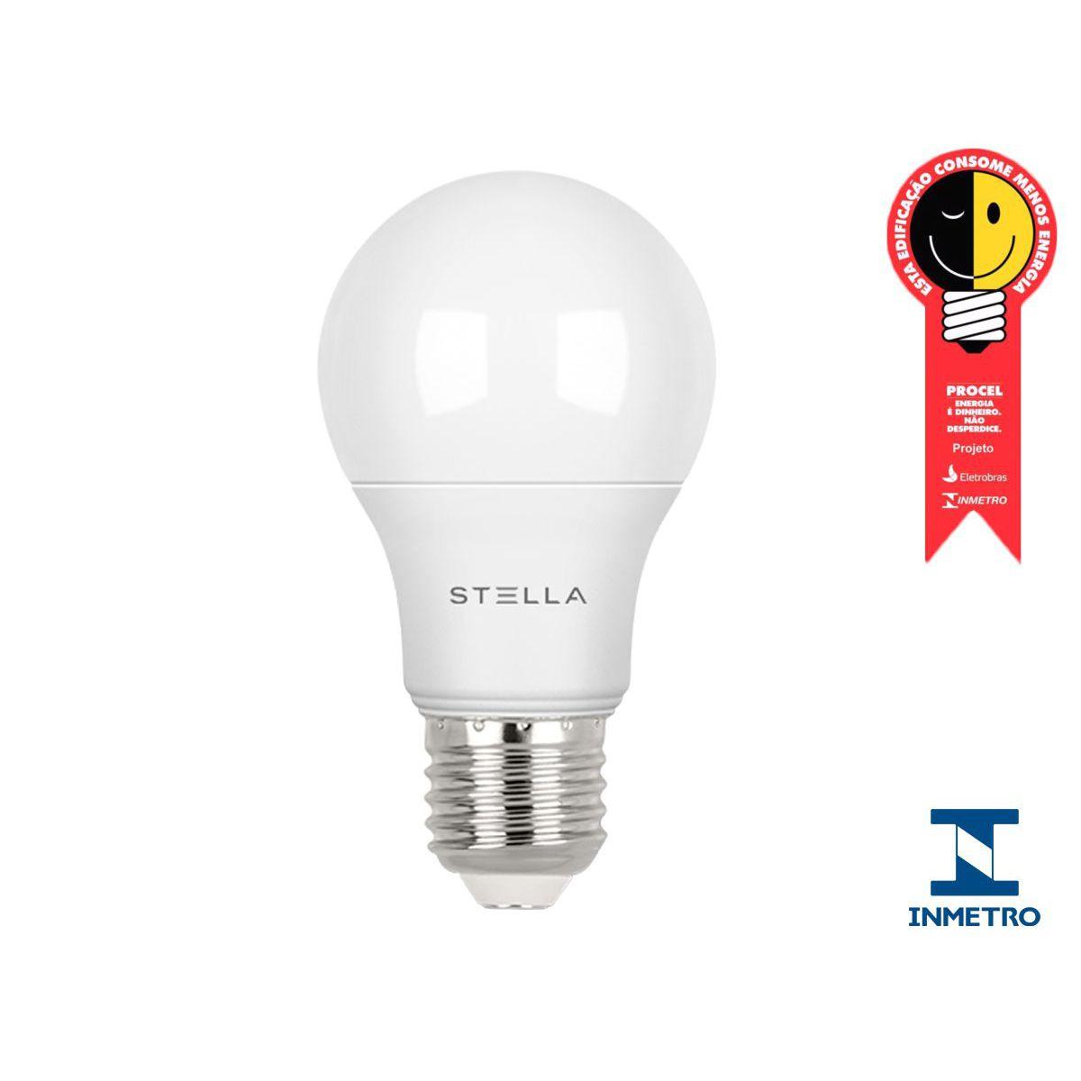 Kit 18  Lampada Led 7w E27 4000k Luz Neutra Stella STH8264/40