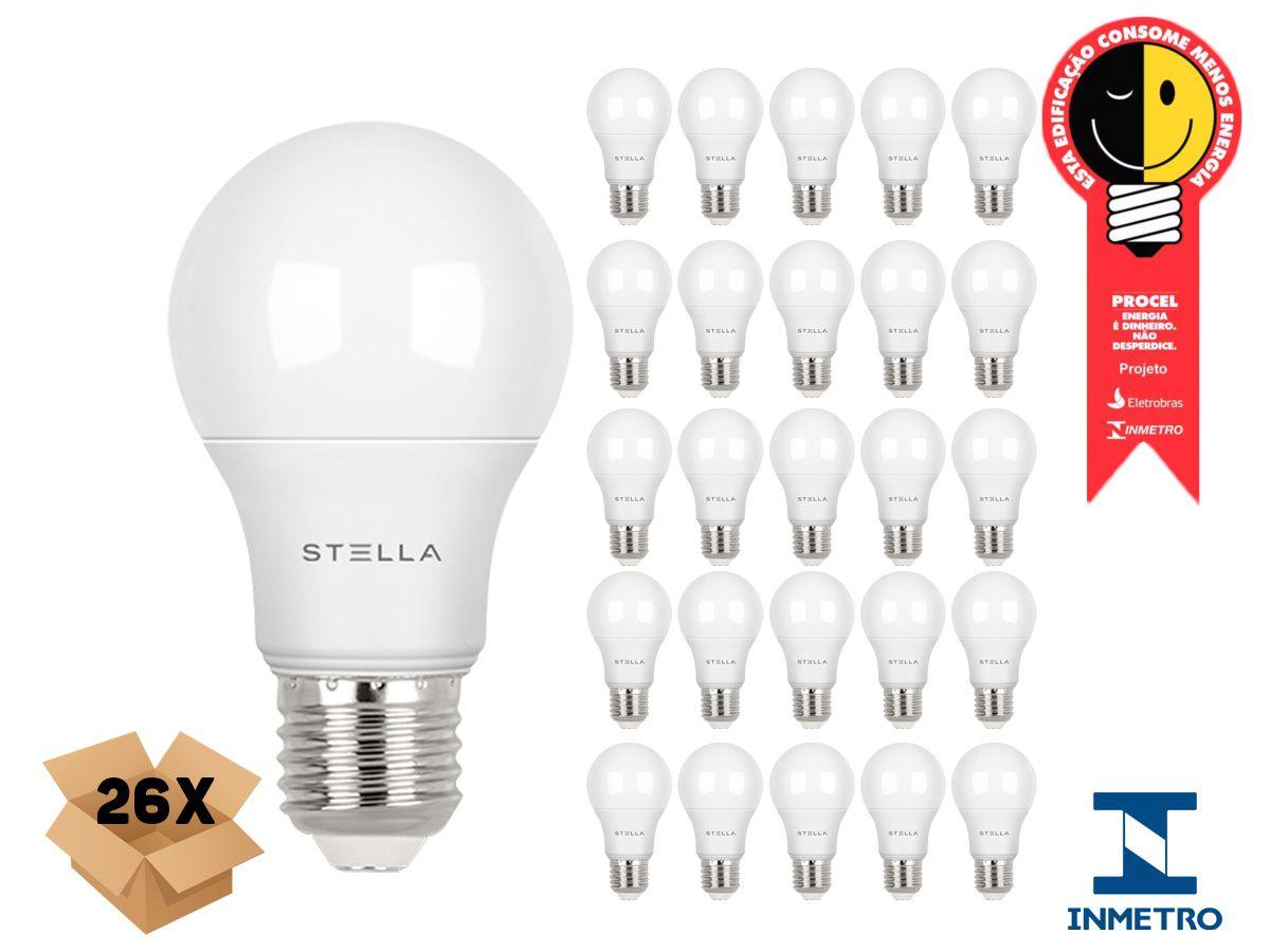 Kit 26 Lampada Led 7w E27 4000k Luz Neutra Stella STH8264/40