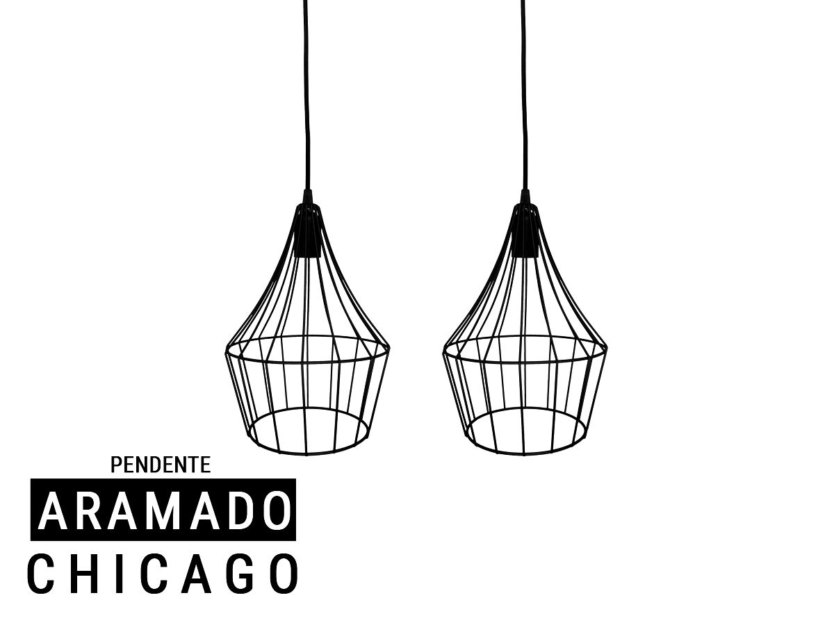 Kit 2 Pendente Aramado Estilo Tom Dixon - Chicago