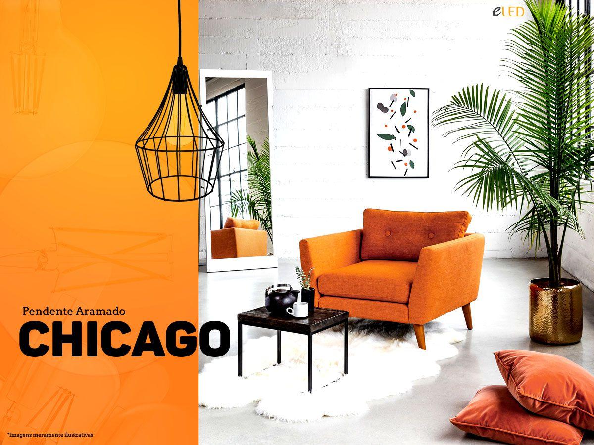 Kit 2 Pendente Aramado Estilo Tom Dixon - Chicago