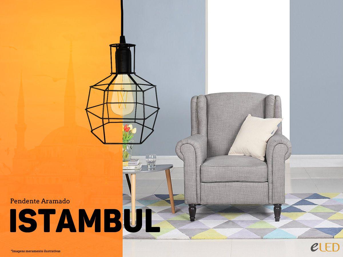 Kit 2 Pendente Aramado Istambul Preto