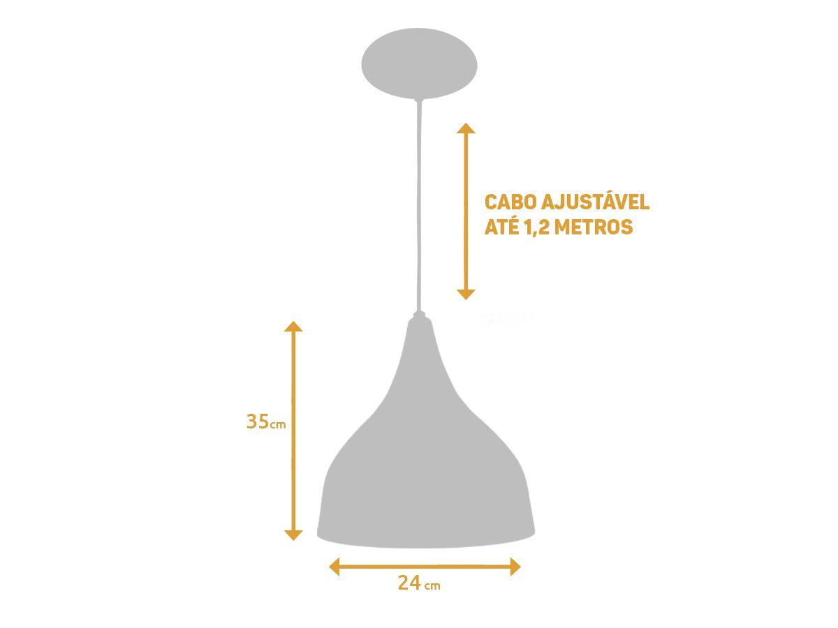 Kit 2 Pendente Funil Grande em Alumínio Preto/Cobre Alta Qualidade
