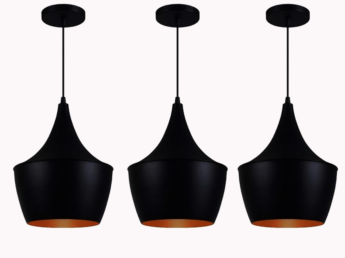 Kit 3 Pendentes Estilo Tom Dixon Modelo Chicago