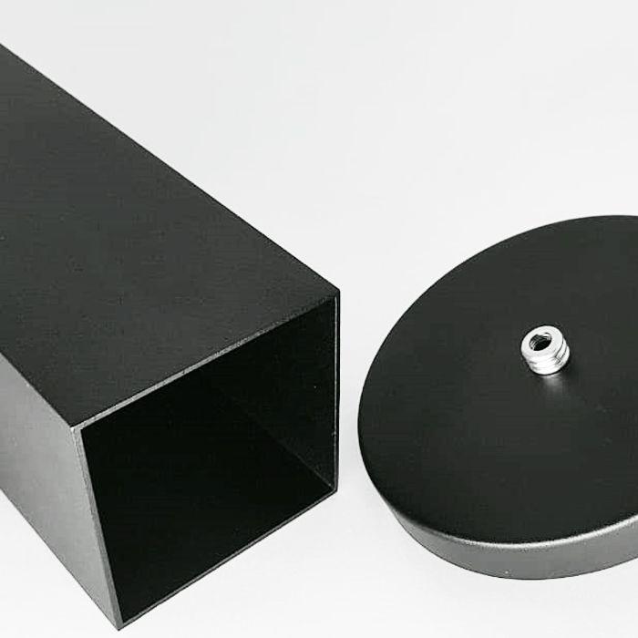 Kit 3 Pendentes Tubo Quadrado  para Bancada Cozinha+ 3 Lâmpadas Brinde