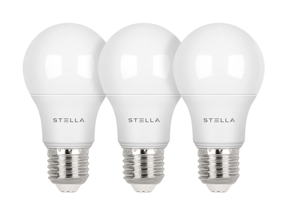 Kit 3X Lâmpada LED Bulbo A60 7W Stella - STH8264