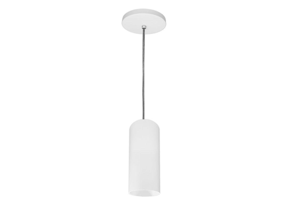 KIT 4 Pendentes Tubo Redondo para Bancada Cozinha 100% Alumínio + LED