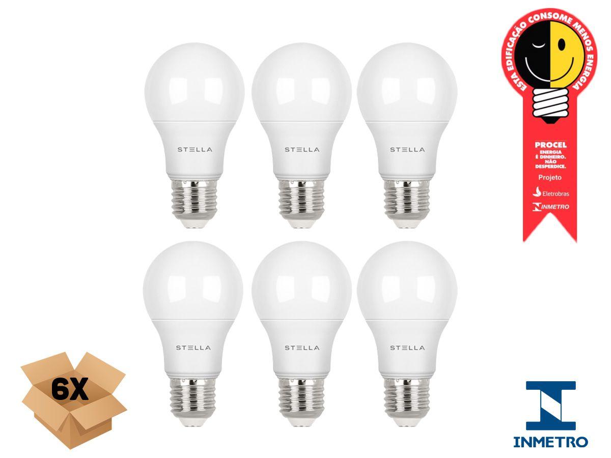 Kit 6 Lampada Led 7w E27 2700k Luz Quente Stella STH8264/27