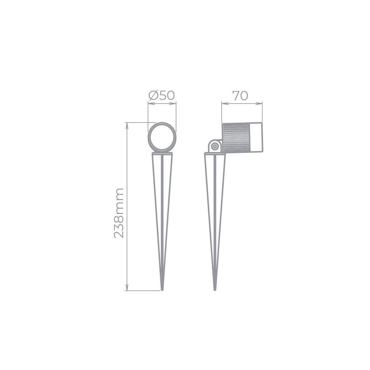 Kit 7x Espeto 3W STH7702/30 + 7x Espeto 7W STH7703/30 - IP67 Branco Quente