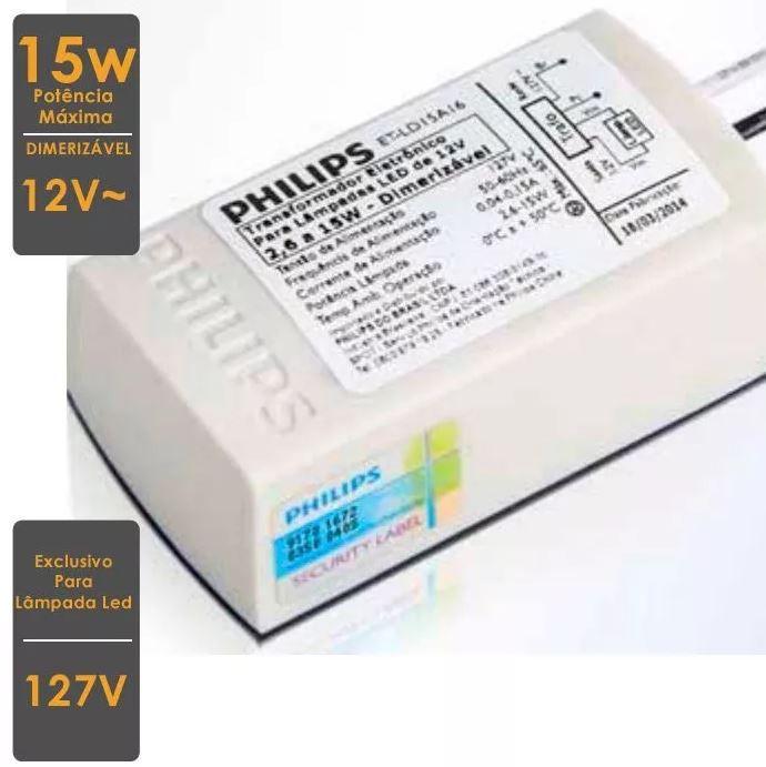 KIT 8 Transformador Eletrônico 127V para Lâmpada Led Dimerizável