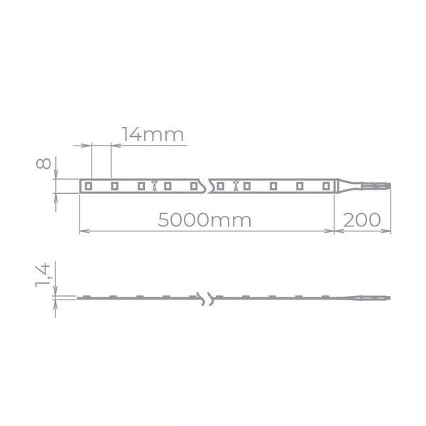 Kit Fita de LED 5W/M - 2x 2700K + 1x 4000K + 2x 6500K + 3x Fonte 15W 12V - Stella