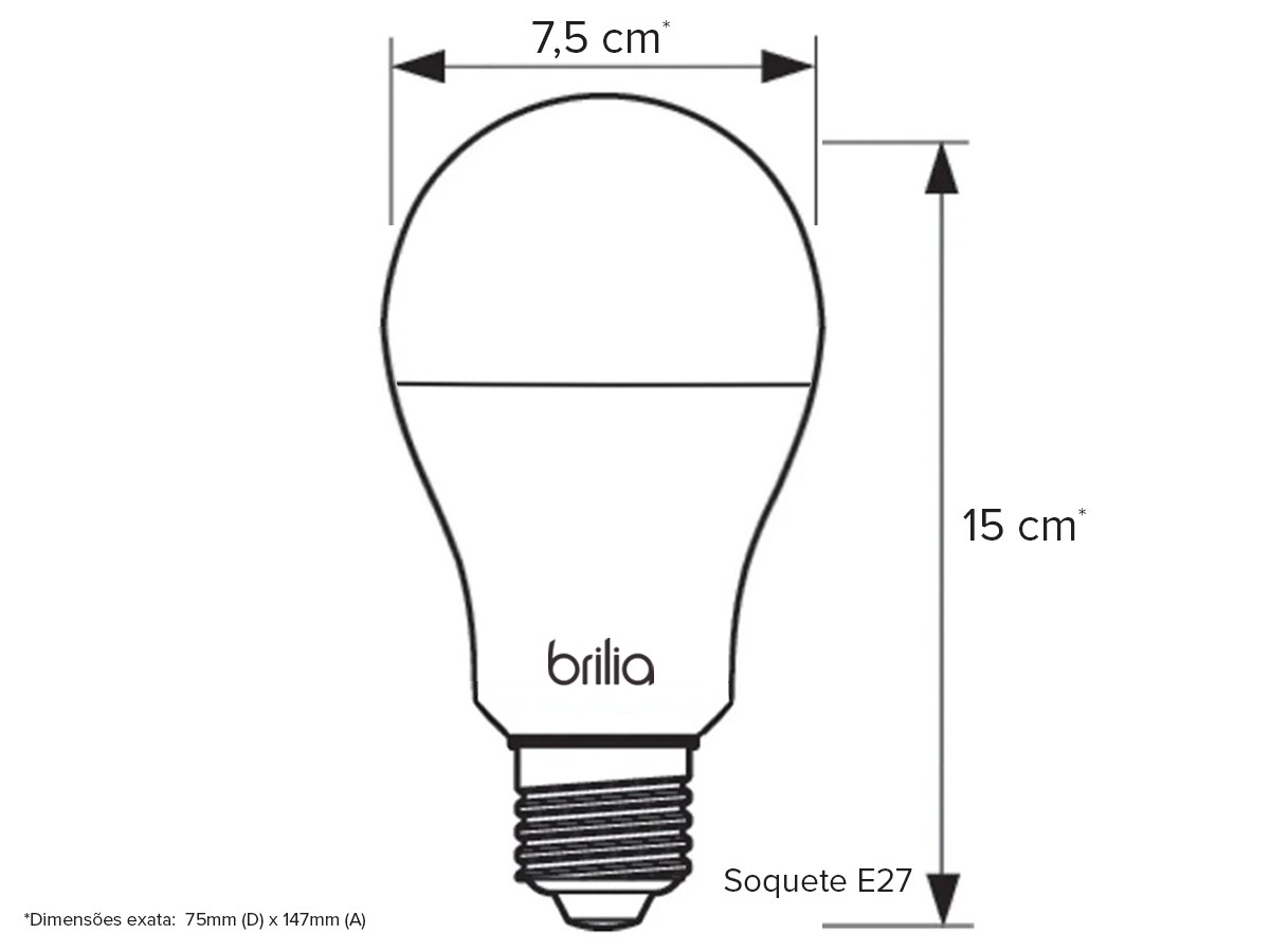 Lâmpada Bulbo Led 15w Bivolt 3000k E27 Amarelo - 439807