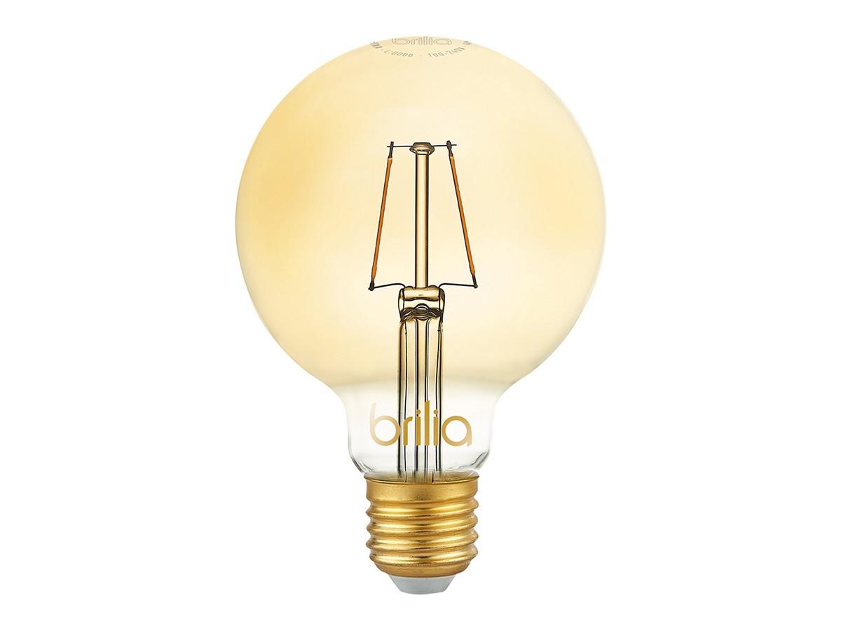 Lâmpada Filamento LED G95 2,5W 2000K Amarelo Vintage Bivolt - Brilia