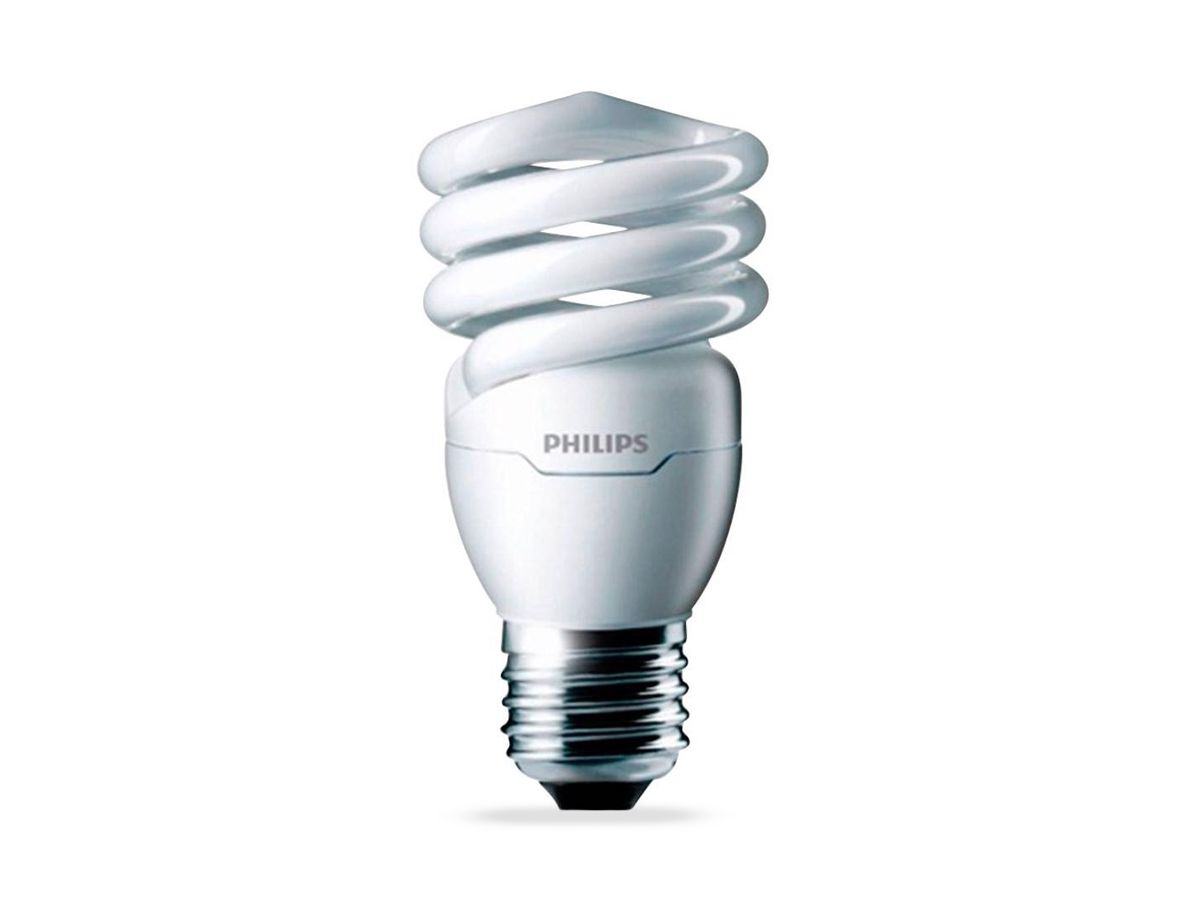 Lâmpada Fluorescente Compacta 20W  2700K Espiral 220-240V Dura 10.000h - Philips