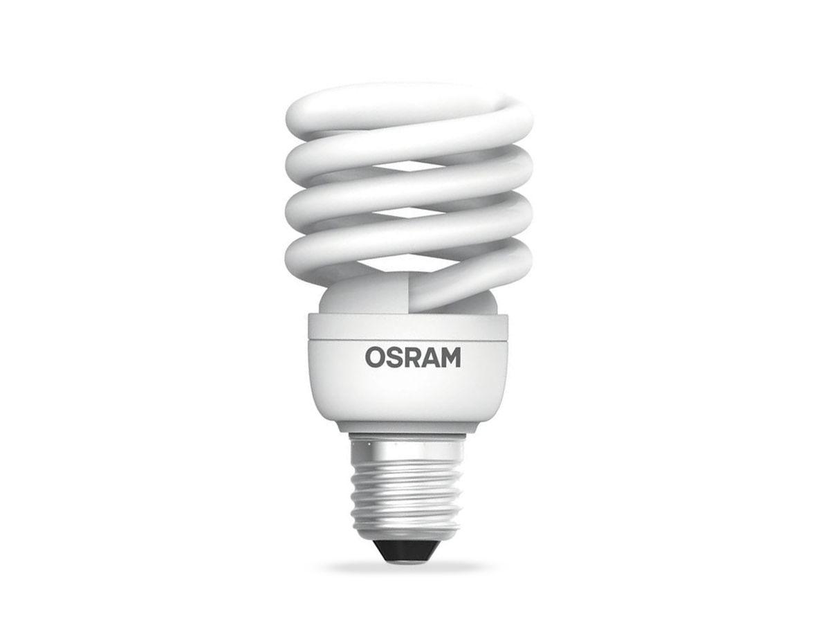 Lâmpada Fluorescente Compacta 23W 2700K Espiral 220-240V Dura 8.000h - Osram