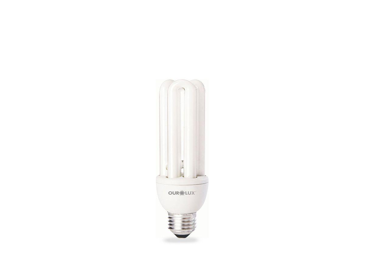 Lâmpada Fluorescente Compacta 3U 15W 2700K 220V 672lm - Ourolux