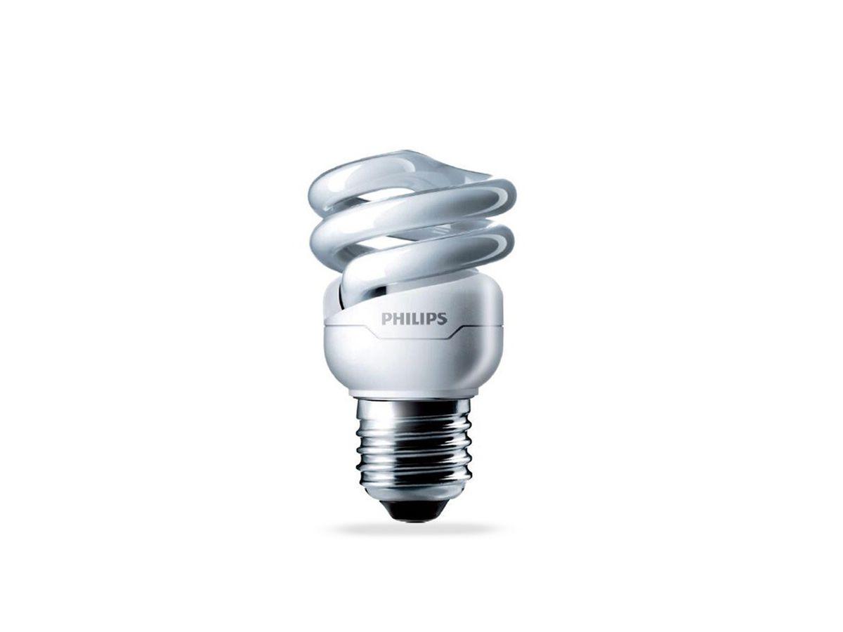 Lâmpada Fluorescente Compacta 8W  2700K Espiral 220-240V Dura 10.000h - Philips