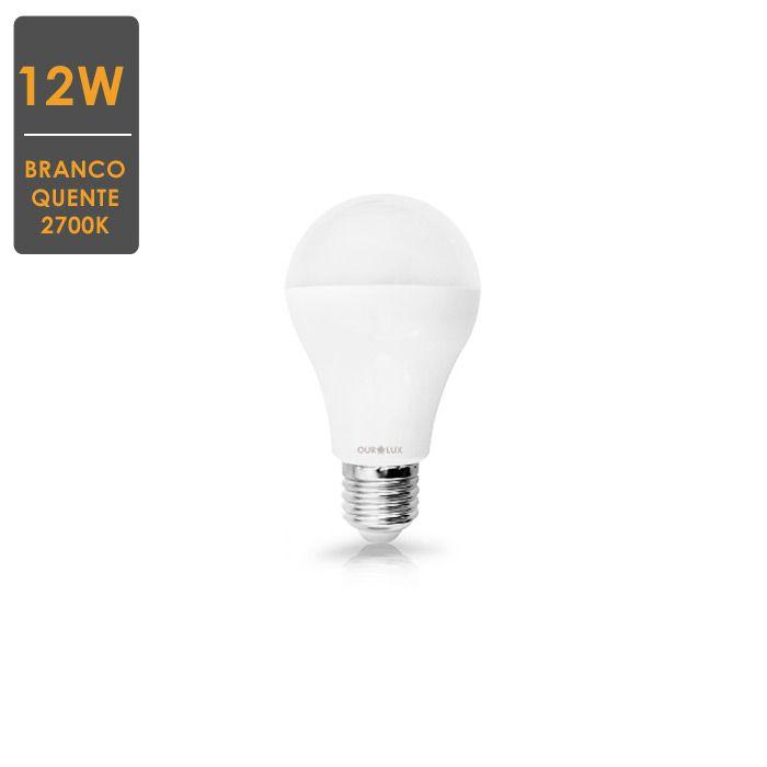 Lâmpada LED A60 12W  E27 2700K  Bivolt Envio Imediato