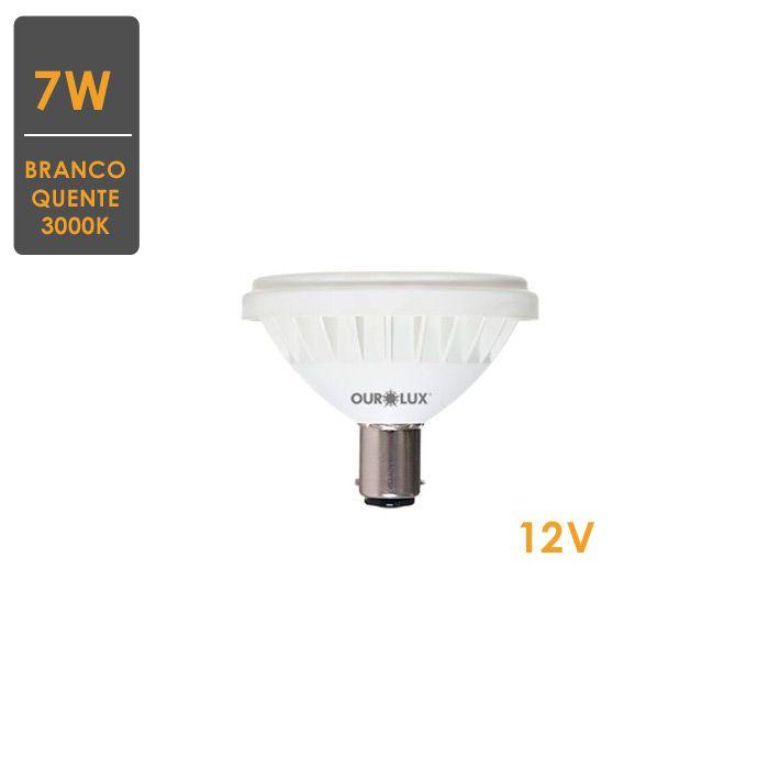 Lâmpada LED AR70 BA15d 7W 12V3000K Bivolt