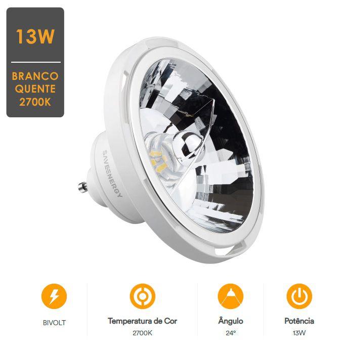 Lâmpada LED Ar 111 13W Refletora - Garantia de Qualidade