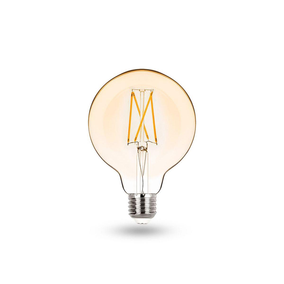 Lâmpada LED Balloon G95 E27 2W  Filamento Vintage 2400K - Stella -STH6336/24