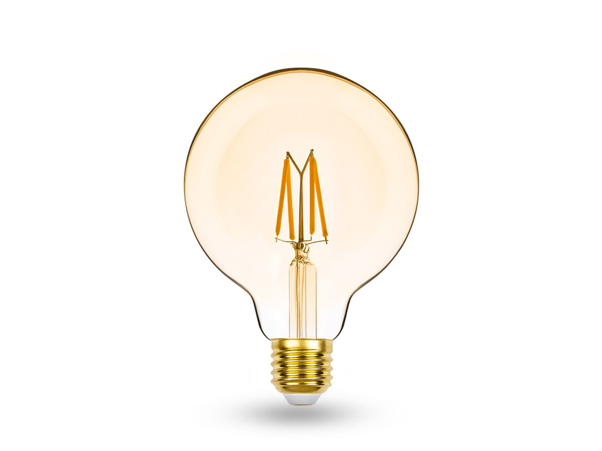 Lâmpada LED Balloon G95 E27 4,5W 2400K 220V Dimer Filamento Vintage -STH8282/24