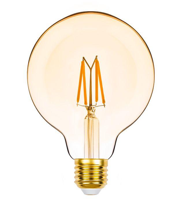 Lâmpada LED Balloon G95 E27 4,5W  Filamento Vintage Âmbar