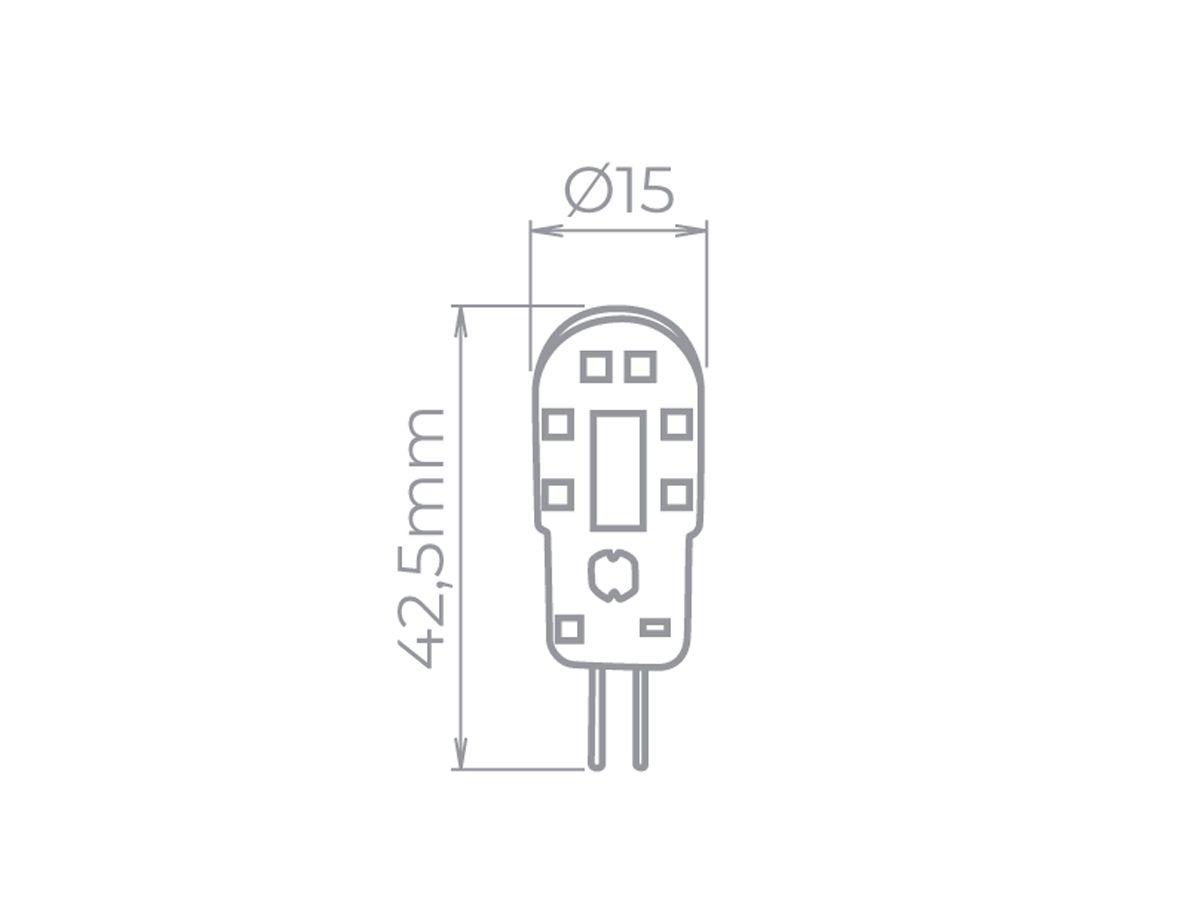 Lâmpada LED Bi-Pino G4 2W 2700K -12V - Stella - STH8103/27