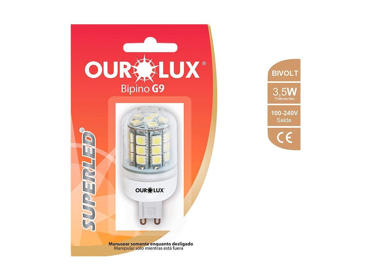 Lâmpada LED BI-PINO G9 3,5W Bivolt 2700K  Branco Quente