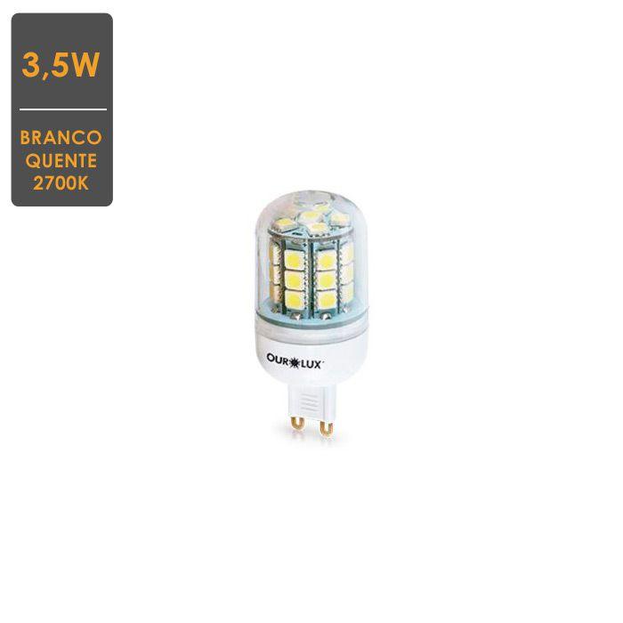 Lâmpada LED BI-PINO G9 3,5W Bivolt 2700K  Branco Quente Pronta Entrega
