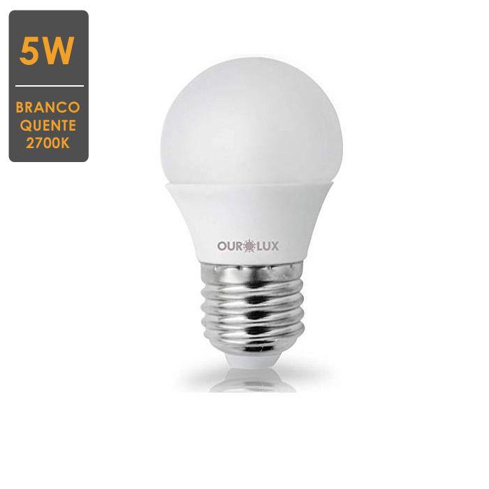 Lâmpada LED Bolinha S30 E27 5W 2700K Bivolt- Envio Imediato